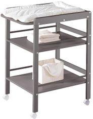 Table à langer 2 étagères pin massif gris Wrap