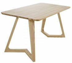 Table à manger bois de frêne naturel Nibo 150 cm