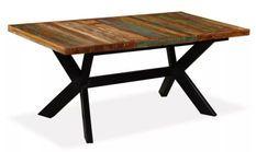 Table à manger bois massif recyclé et pieds métal noir Maxi 180 cm