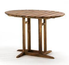 Table à manger ovale bois de teck naturel Laza 100 cm
