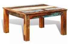 Table basse carrée bois massif recyclé Moust
