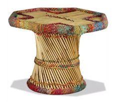 Table basse octogonale bambou clair Indika