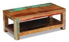 Table basse rectangulaire bois massif recyclé Moust