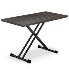 Table basse relevable bois vintage Markus L 120 x P 60 x H 38/75 cm