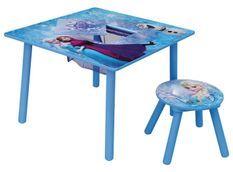 Table carrée et 1 chaise Reine des neiges Disney