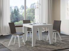 Table carrée extensible 4 à 12 personnes L 90 à 246 cm blanc Naxo