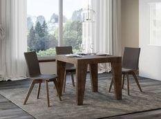 Table carrée extensible 4 à 12 personnes L 90 à 246 cm bois foncé Naxo