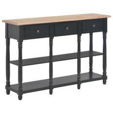 Table console Noir 120x30x76 cm MDF