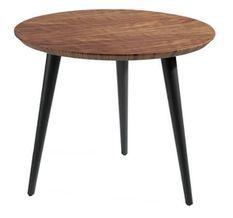 Table d'appoint bois plaqué noyer Monza
