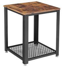 Table d'appoint industrielle avec 1 étagère en Treillis Kaza 45 cm