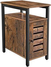Table d'appoint marron vintage style industriel Persienne 30 cm