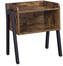 Table d'appoint niche marron vintage style industriel Kaza 39 cm