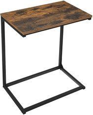 Table d'appoint marron vintage style industriel Kaza 55 cm