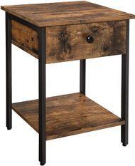 Table d'appoint marron vintage style industriel Kaza 40 cm