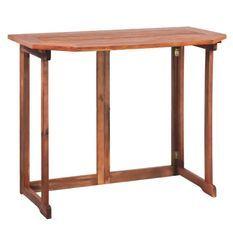 Table de bar de jardin pliable acacia massif foncé Woun