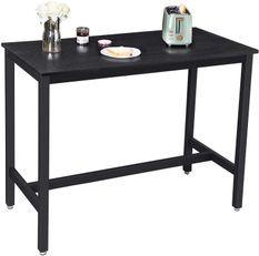 Table de bar industriel acier noir Kaza 120 cm