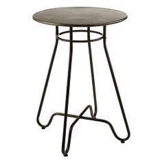 Table de bar ronde métal noir Bothar