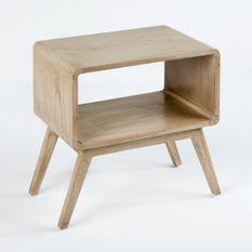 Table de chevet 1 niche bois massif cérusé Siana