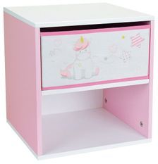 Table de chevet 1 tiroir 1 niche Licorne