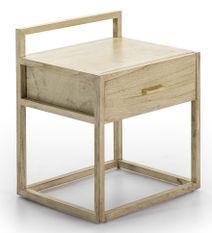 Table de chevet 1 tiroir bois massif clair Castle