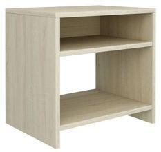 Table de chevet 2 étagères bois chêne sonoma Fefi