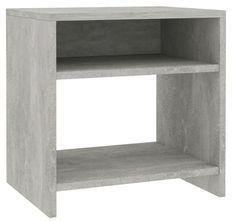 Table de chevet 2 étagères bois gris effet béton Fefi