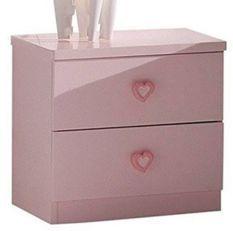 Table de chevet princesse rose Kizza