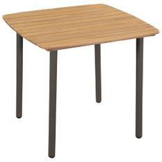 Table de jardin 80 x 80 x 72 cm Bois d'acacia solide et acier