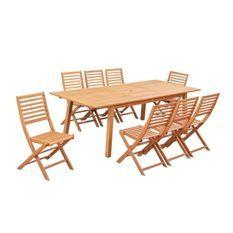 Table de jardin extensible 8 a 10 personnes - 180-240 x 100 x H.75 cm - Acacia FSC - Extension papillon