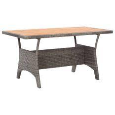 Table de jardin Gris 130x70x66 cm Bois d'acacia massif