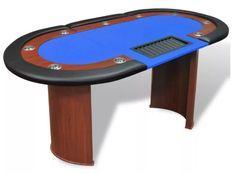 Table de poker 10 joueurs bleu Pro
