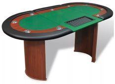 Table de poker 10 joueurs vert Pro