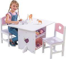 Table et 2 chaises coeur Kidkraft 26913