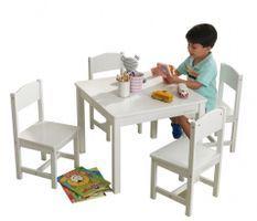 Table et 4 chaises blanc Farmhouse Kidkraft 21455