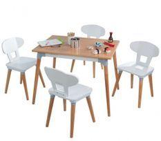 Table et 4 chaises enfant en bois Mid Century Kidkraft 29196