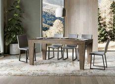 Table extensible bois noyer 6 à 12 personnes L 160 à 264 cm Kristo