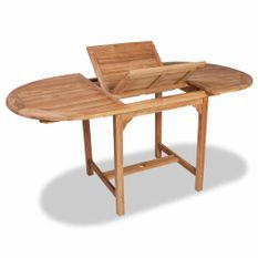 Table extensible de jardin (110-160)x80x75 cm Teck solide