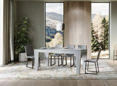 Table extensible gris cendré 6 à 12 personnes L 160 à 264 cm Kristo