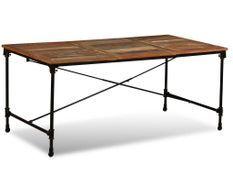 Table industrielle bois recomposé Vintale 180 cm