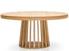 Table ovale extensible bois chêne clair Ritchi 150/300 cm
