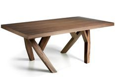 Table rectangulaire design bois noyer Bonita 200 cm