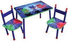 Table rectangulaire et 2 chaises Pyjamasques