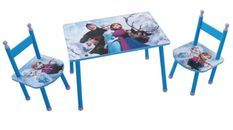 Table rectangulaire et 2 chaises Reine des neiges Disney