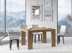 Table rectangulaire extensible 4 à 10 personnes L 130 à 234 cm bois clair Ribo