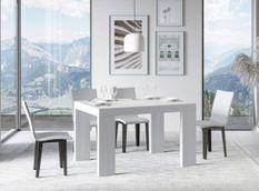 Table rectangulaire extensible 4 à 10 personnes L 130 à 234 cm frêne blanc Ribo
