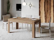 Table rectangulaire extensible 4 à 10 personnes L 160 à 220 cm bois clair Tipi