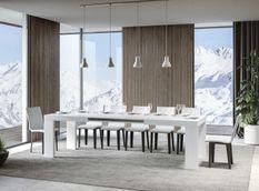 Table rectangulaire extensible 6 à 14 personnes L 180 à 284 cm frêne blanc Ribo