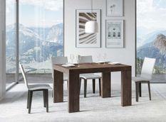 Table rectangulaire extensible 6 à 18 personnes L 130 à 390 cm bois foncé Ribo