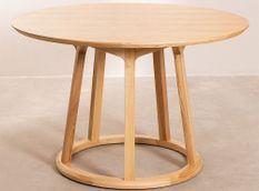 Table ronde bois de Frêne naturel Sandy 120 cm