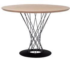 Table ronde bois naturel et métal Balancia 100 cm